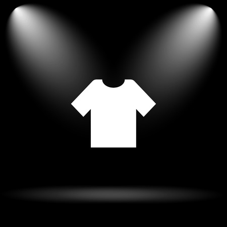 t short: T-short icon. Internet button on black background. Stock Photo