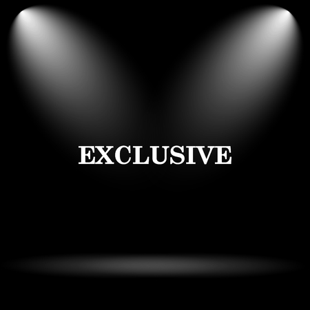 exclusive icon: Exclusive icon. Internet button on black background.
