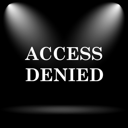 access denied icon: Access denied icon. Internet button on black background.