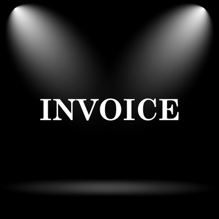 accounts payable: Invoice icon. Internet button on black background.