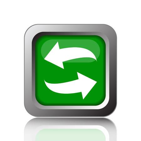 swap: Swap icon. Internet button on green background.