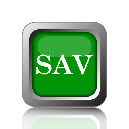assessed: SAV icon. Internet button on green background. Stock Photo