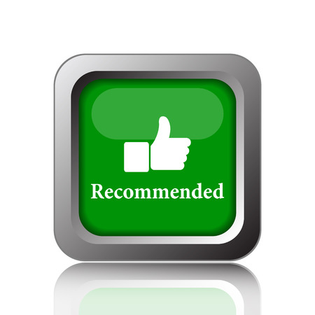 recommendations: Recommended icon. Internet button on green background.