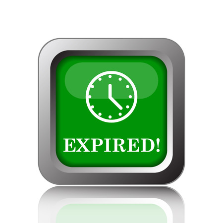 expired: Expired icon. Internet button on green background.