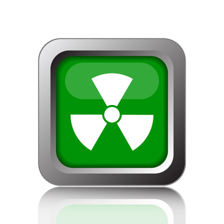 emanation: Radiation icon. Internet button on green background.