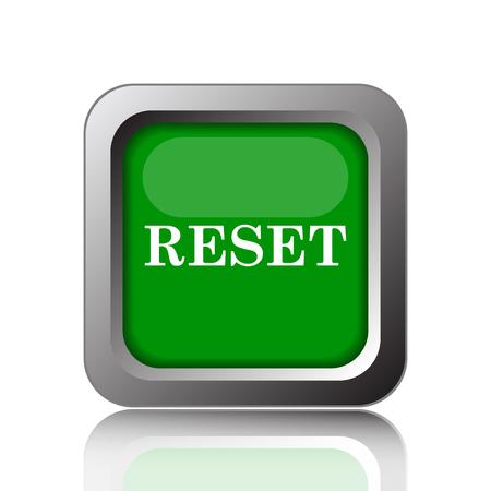 rebuild: Reset icon. Internet button on green background. Stock Photo