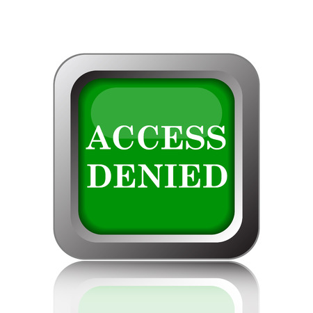allowed to enter: Access denied icon. Internet button on green background. Stock Photo