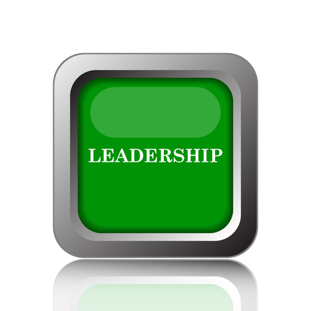 superintendence: Leadership icon. Internet button on green background.