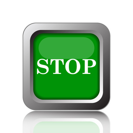 running off: Stop icon. Internet button on green background.