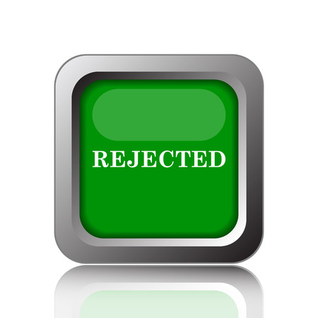 rejected: Rejected icon. Internet button on green background.