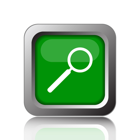 seeking: Search icon. Internet button on green background.