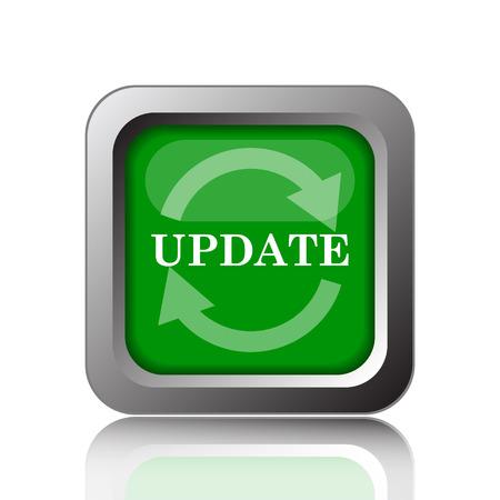 更新アイコン。インター ネット ボタンを緑の背景。