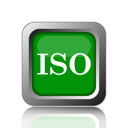 norm: ISO icon. Internet button on green background.