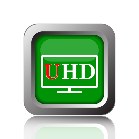 ultra: Ultra HD icon. Internet button on green background.