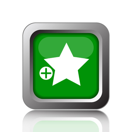 favorites: Add to favorites icon. Internet button on green background.