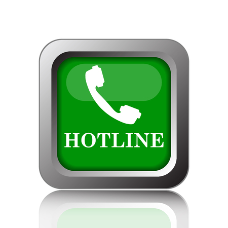 hotline: Hotline icon. Internet button on green background.
