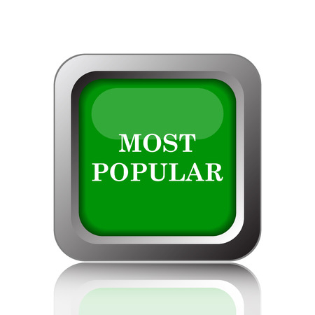 most popular: Most popular icon. Internet button on green background.
