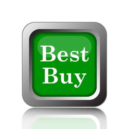 buy icon: Best buy icon. Internet button on green background.