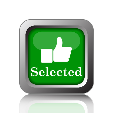 selected: Selected icon. Internet button on green background.