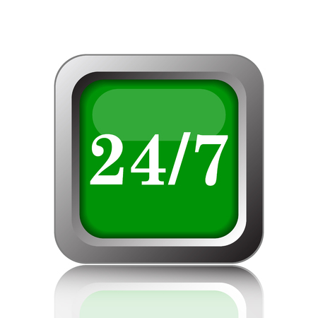hrs: 247 icon. Internet button on green background.