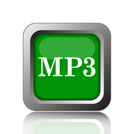 mp3: MP3 icon. Internet button on green background.