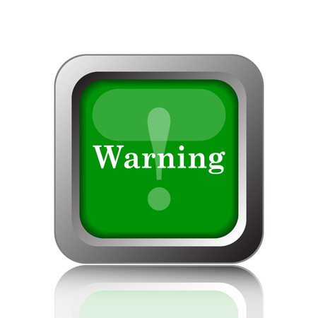 warning icon: Warning icon. Internet button on green background.