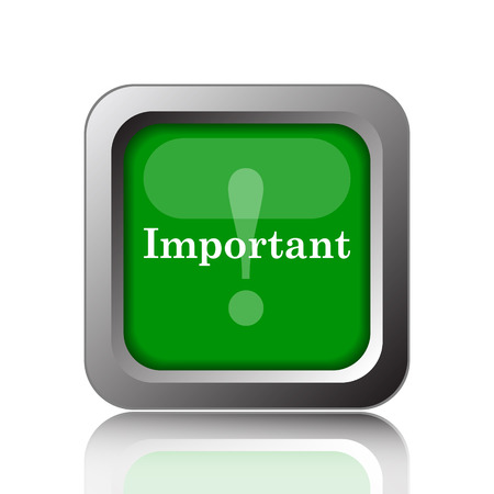 notable: Important icon. Internet button on green background.
