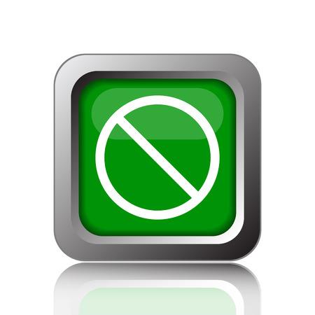 forbidden: Forbidden icon. Internet button on black background.