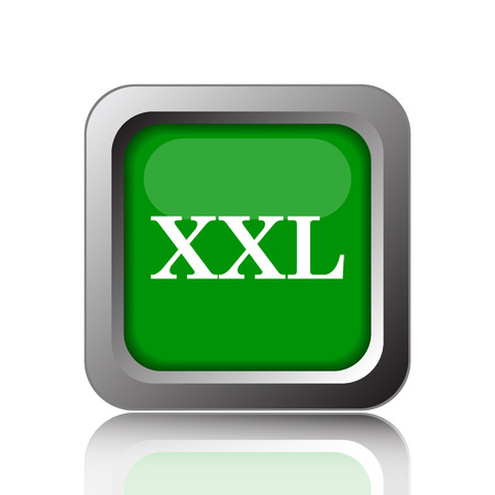 extra large size: XXL icon. Internet button on green background.