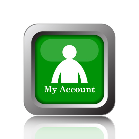 green button: My account icon. Internet button on green background.