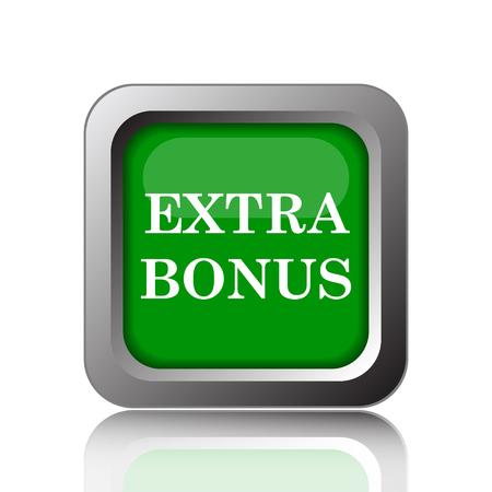 Extra bonus icon. Internet button on green background.