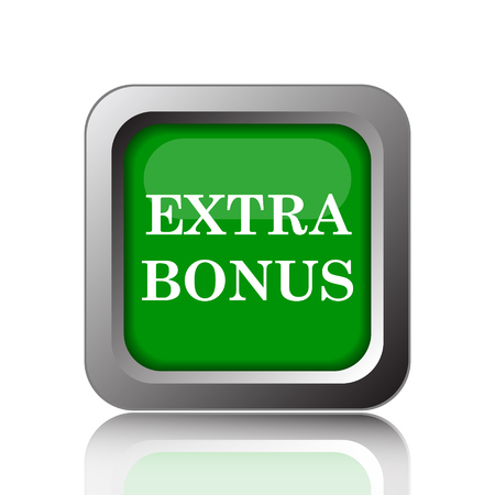 extra cash: Extra bonus icon. Internet button on green background.