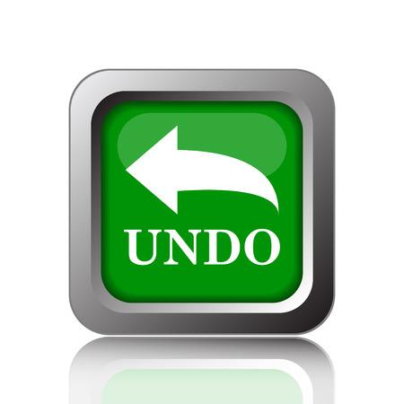 undo: Undo icon. Internet button on green background.