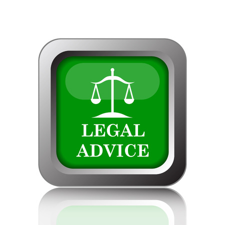 injustice: Legal advice icon. Internet button on green background.