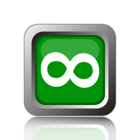 Infinity sign icon. Internet button on black background. Stock fotó
