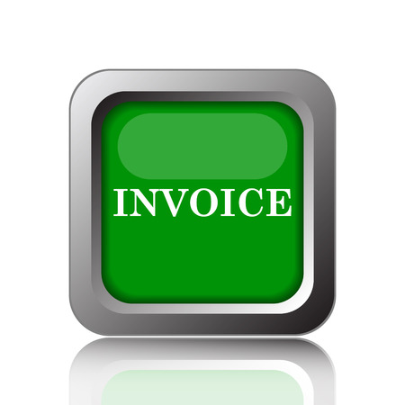 payable: Invoice icon. Internet button on black background.