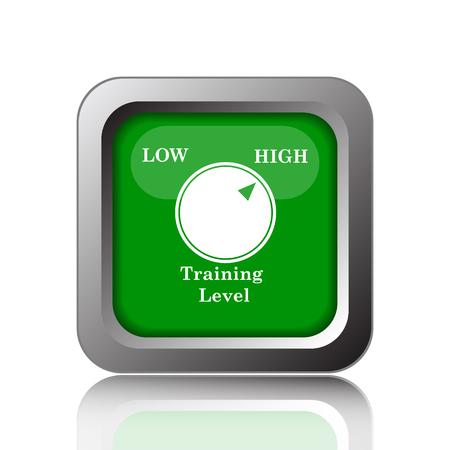 cognicion: Training level icon. Internet button on black background.