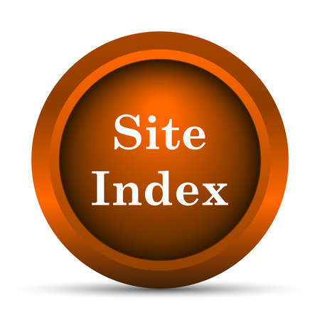teaser: Site index icon. Internet button on white background.