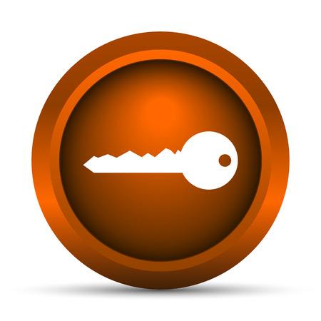 secret codes: Key icon. Internet button on white background. Stock Photo
