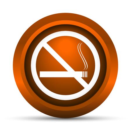 smoke alarm: No smoking icon. Internet button on white background.