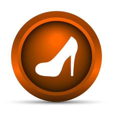 fetish: High heel icon. Internet button on white background. Stock Photo