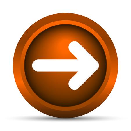 go forward: Right arrow icon. Internet button on white background.