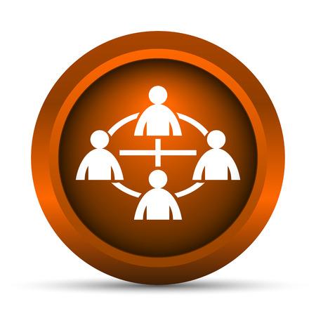 icono comunicacion: Communication icon. Internet button on white background. Foto de archivo