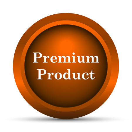 first rate: Premium product icon. Internet button on white background. Stock Photo