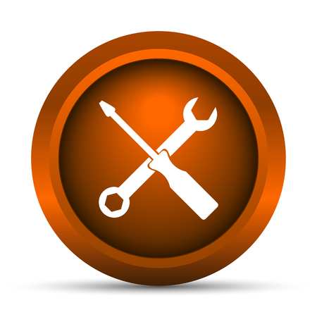 power wrench: Tools icon. Internet button on white background.