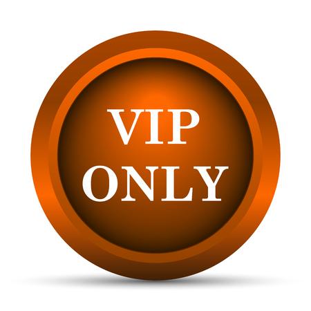 privilege: VIP only icon. Internet button on white background. Stock Photo