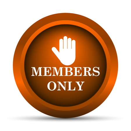 vip area: Members only icon. Internet button on white background.