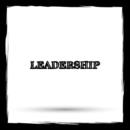 superintendence: Leadership icon. Internet button on white background. Outline design imitating paintbrush.