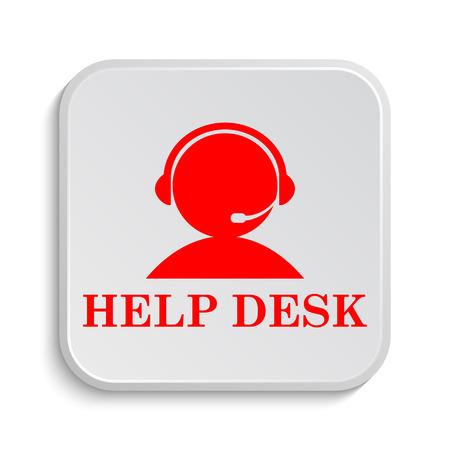 Helpdesk icon. Internet button on white background. Stock Photo