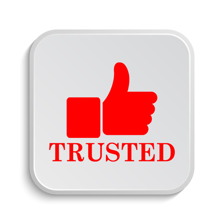 trust business: Trusted icon. Internet button on white background.